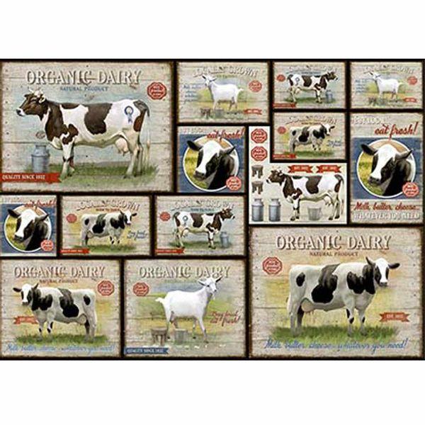 Papel-Decoupage-Litoarte-PD-962-343x49cm-Vacas-e-Cabras-Vintage