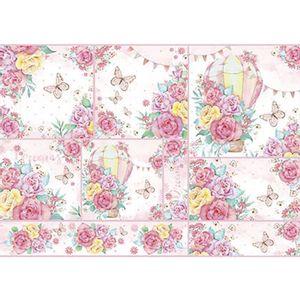 Papel-Decoupage-Litoarte-PD-964-343x49cm-Rosas-Coloridas-Aquareladas-com-balao