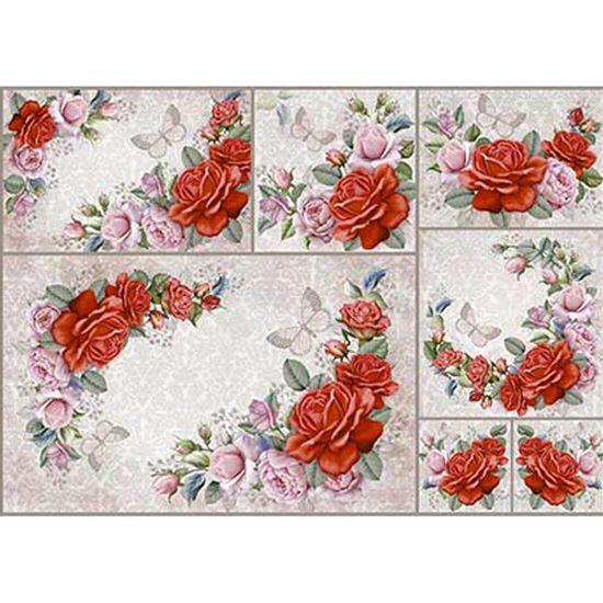 Papel-Decoupage-Litoarte-PD-970-343x49cm-Guirlanda-de-Rosas