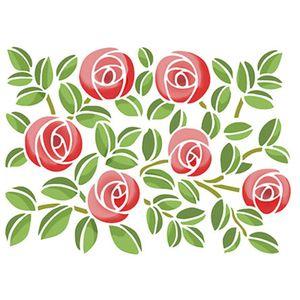 Stencil-Litoarte-25x20cm-Pintura-Simples-STR-010-Estampa-Rosas