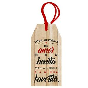 Placa-TAG-MDF-Decorativa-Litoarte-DHT2-041-143x7cm-Toda-Historia-de-Amor-e-Bonita