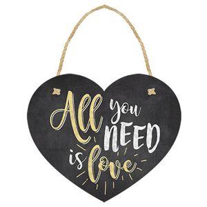 Placa-TAG-MDF-Decorativa-Litoarte-DHT-007-12x10cm-Coracao-All-You-Need-Is-Love