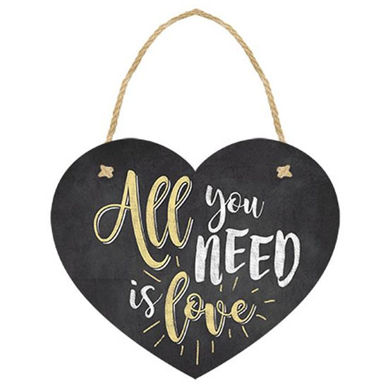 Placa-TAG-MDF-Decorativa-Litoarte-DHT-007-12x10cm-Coracao-All-You-Need-Is-Love