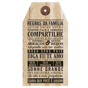 Placa-Decorativa-em-MDF-Litoarte-DHPM5-238-35x19cm-Regras-da-Familia