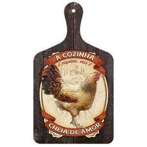 Placa-Decorativa-em-MDF-Litoarte-DHPM5-252-335x19cm-Tabua-de-Cozinha-Rotulo-Galinha