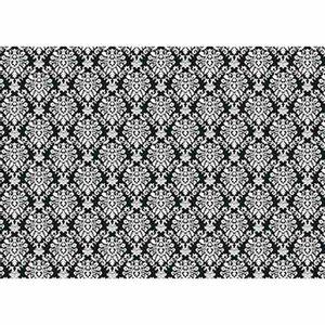Papel-Decoupage-Litoarte-PD-958-343x49cm-Arabescos-Branco-com-Fundo-Preto