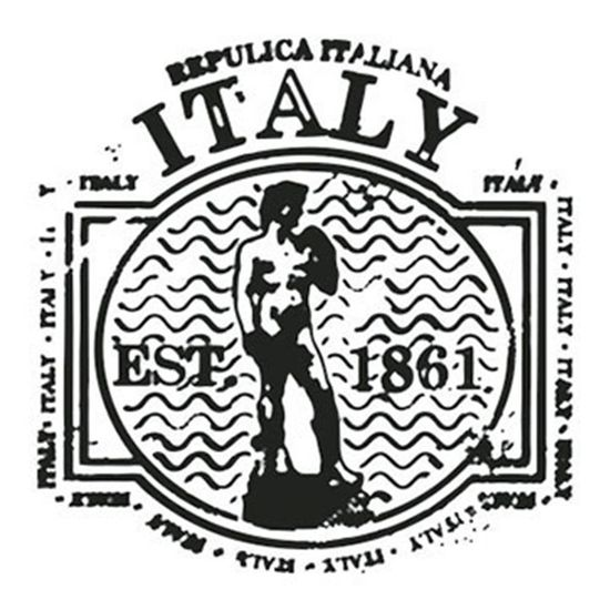 Carimbo-em-Borracha-Litoarte-CLP-082-3x3cm-Selo-Italy