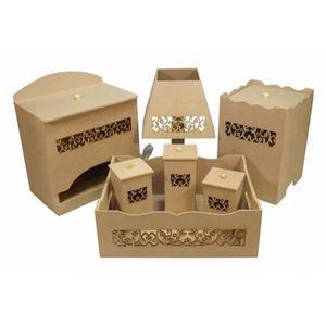 Kit-Higiene-Bebe-em-MDF-Flores-do-Campo-7-pecas-com-Abajur-Palacio-da-Arte