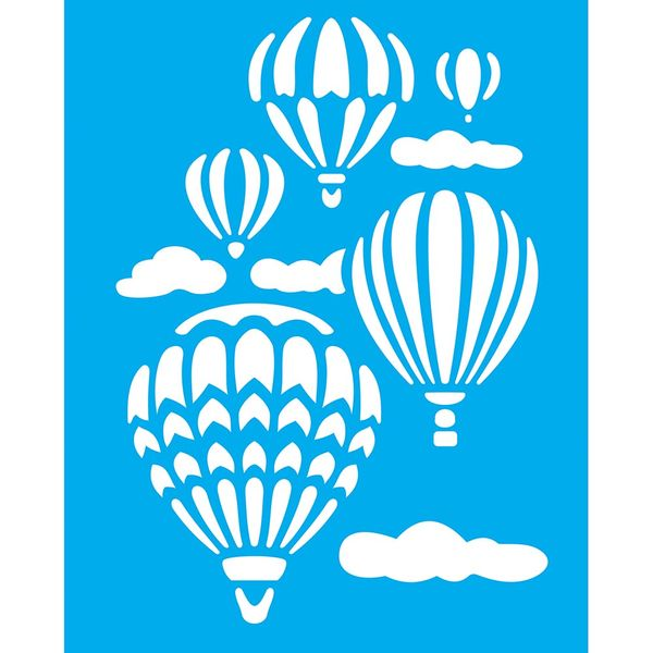 Stencil-Litocart-25x20cm-Pintura-Simples-LSG-125-Baloes