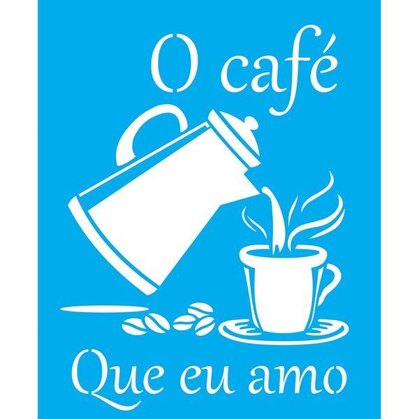 Stencil-Litocart-25x20cm-Pintura-Simples-LSG-126-O-Cafe-que-eu-Amo