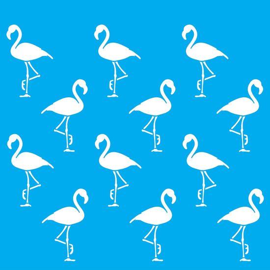 Stencil-Litocart-20x20cm-Pintura-Simples-LSQ-135-Estampa-Flamingos