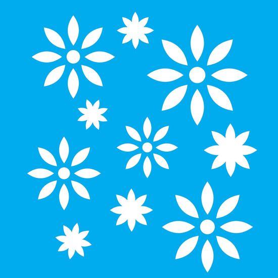 Stencil-Litocart-20x20cm-Pintura-Simples-LSQ-136-Flores
