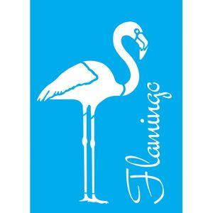 Stencil-Litocart-20x15cm-Pintura-Simples-LSM-088-Flamingo