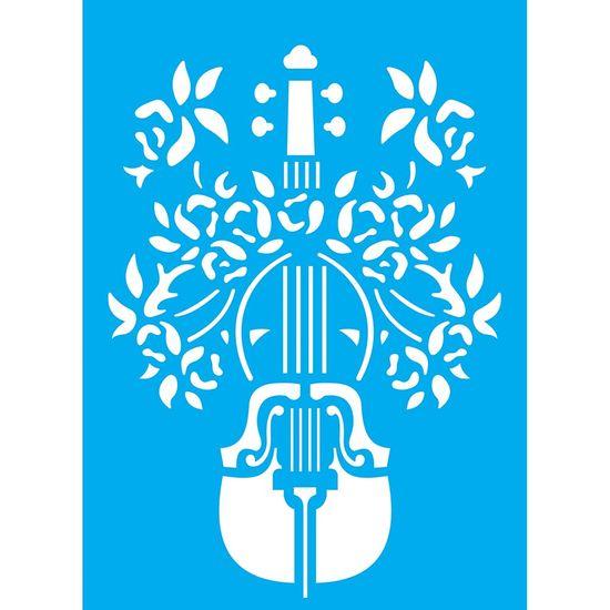 Stencil-Litocart-20x15cm-Pintura-Simples-LSM-091-Violino