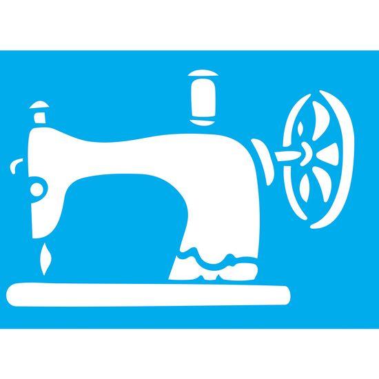 Stencil-Litocart-20x15cm-Pintura-Simples-LSM-098-Maquina-de-Costura