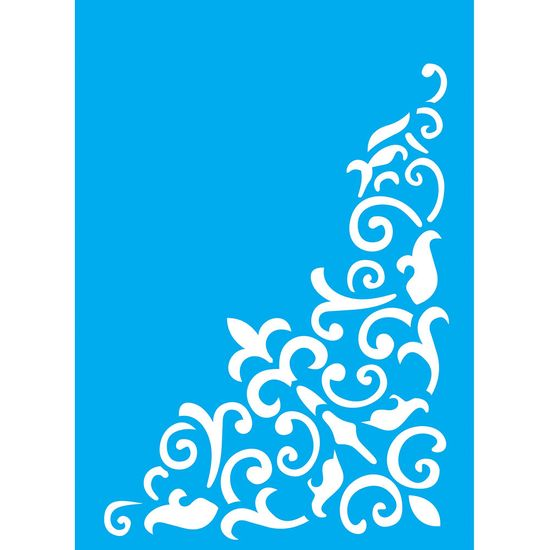 Stencil-Litocart-20x15cm-Pintura-Simples-LSM-093-Cantoneira-Colonial