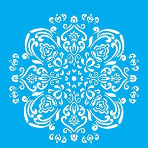 Stencil-Litocart-30x30cm-Pintura-Simples-LSPG-046-Mandala-Flor