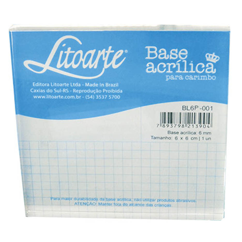 b14229e0f1b48 Base Acrílica para Carimbo Litoarte BL6P-001 6x6cm - PalacioDaArte