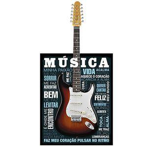 Placa-Decorativa-em-MDF-Litoarte-DHPM5-241-375x19cm-Guitarra-Musica