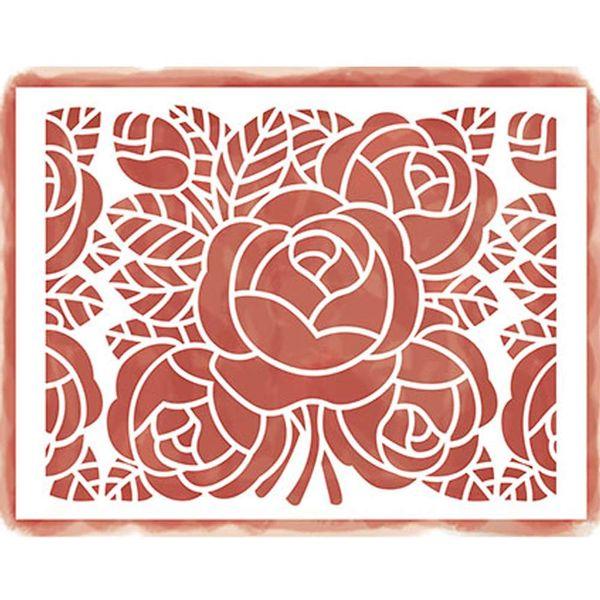 Stencil-Litoarte-422x32cm-para-Pintura-Simples-STA4-003-Rosas-e-Folhas