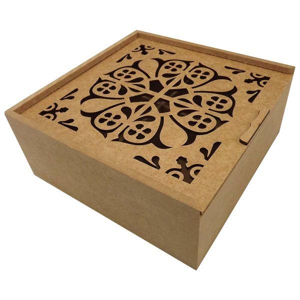 Caixa-Estojo-Quadrada-em-MDF-com-4-Divisoes-Arabesco-Duplo-20x20x83cm---Palacio-da-Arte