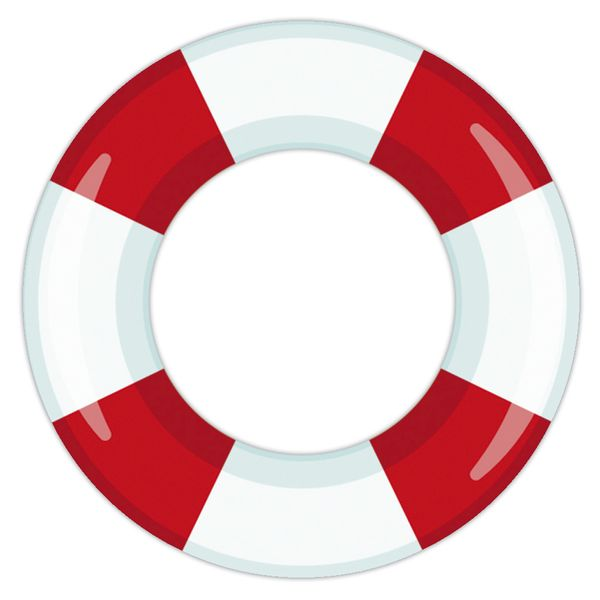 Aplique-Decoupage-Litocart-LMAM-062-em-Papel-e-MDF-7cm-Boia-Salva-Vidas-Vermelha