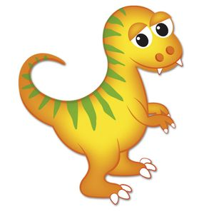 Aplique-Decoupage-Litocart-LMAM-070-em-Papel-e-MDF-7cm-Dinossauro-Amarelo