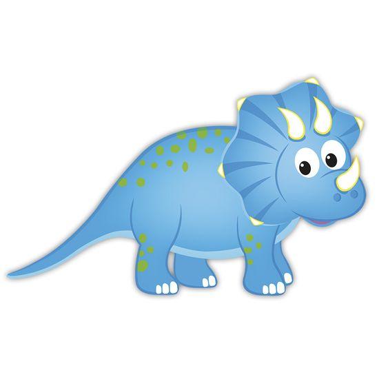 Aplique-Decoupage-Litocart-LMAM-073-em-Papel-e-MDF-7cm-Dinossauro-Azul