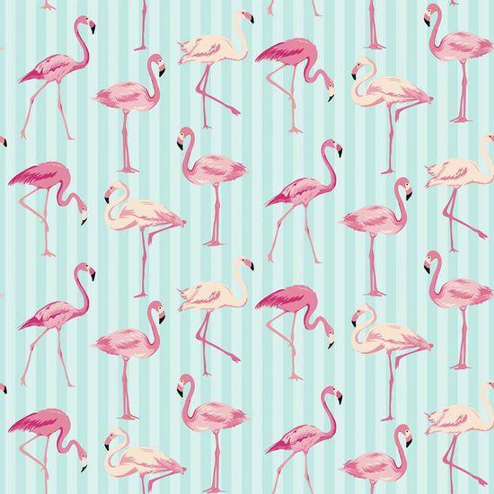 Papel-Scrapbook-Litocart-LSCE-007-305x305cm-Flamingos-com-Listras-Azuis