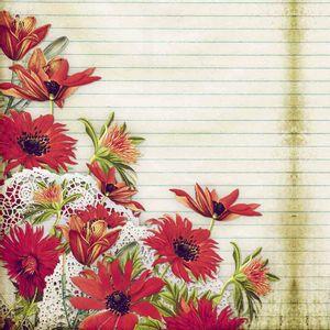 Papel-Scrapbook-Litocart-LSCE-018-305x305cm-Flor-Vermelha