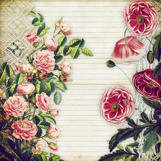Papel-Scrapbook-Litocart-LSCE-020-305x305cm-Flores