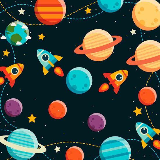 Papel-Scrapbook-Litocart-LSCE-028-305x305cm-Planetas-e-Foguetes-Fundo-Preto