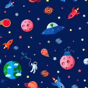 Papel-Scrapbook-Litocart-LSCE-029-305x305cm-Planetas-e-Foguetes-Fundo-Azul
