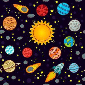 Papel-Scrapbook-Litocart-LSCE-030-305x305cm-Planetas-e-Foguetes-Fundo-Preto