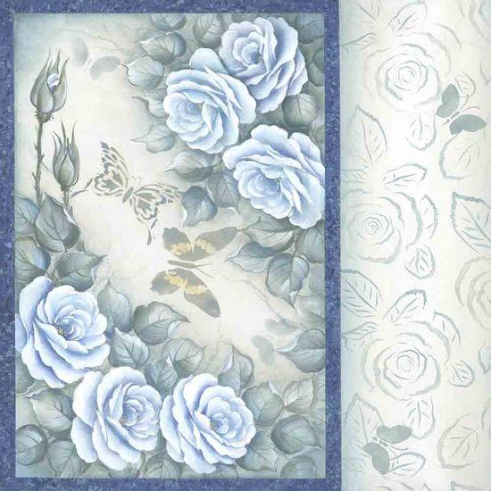 Papel-Scrapbook-Litocart-LSCE-040-305x305cm-Flores-Borda-Azul