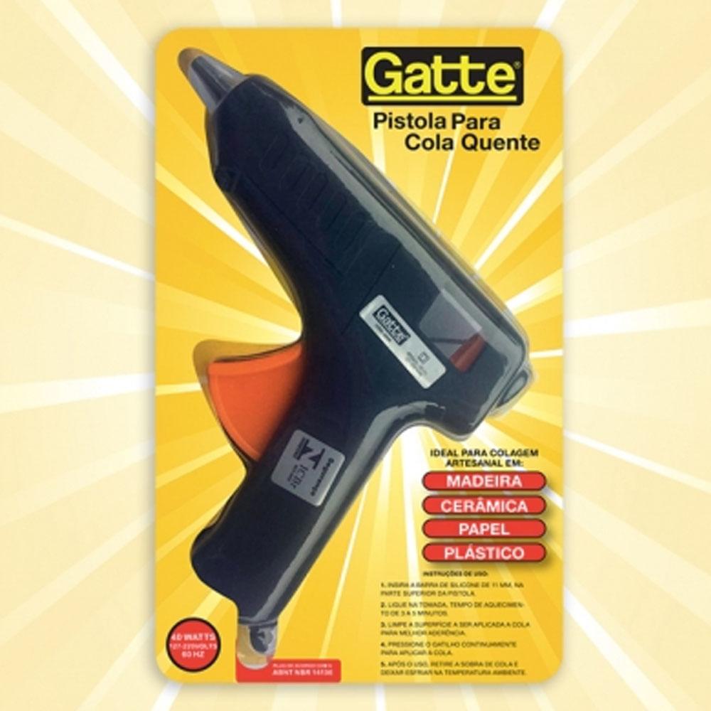 Pistola para Cola Quente Grande Gatte Make Mais 40W Bivolt - PalacioDaArte eb304295c3