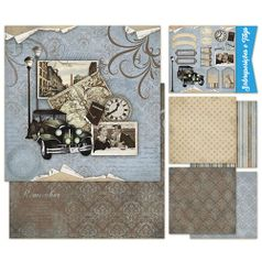 Kit-Papel-Scrap-Decor-Litoarte-KSD-001-305x305cm-6-Folhas-Sortidas-Vintage-Man-Carro