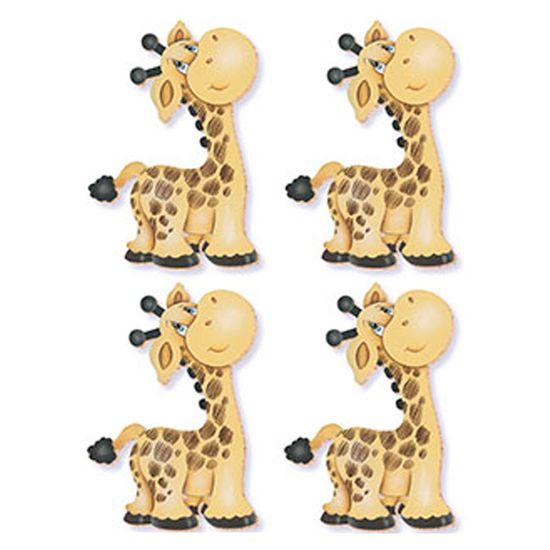 Aplique-Decoupage-Litoarte-APM3-049-em-Papel-e-MDF-3cm-Girafa