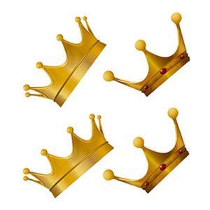 Aplique-Decoupage-Litoarte-APM3-129-em-Papel-e-MDF-3cm-Coroa-Dourada