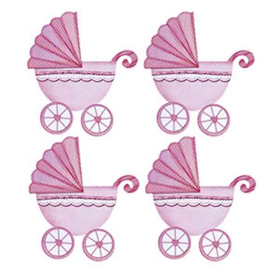 Aplique-Decoupage-Litoarte-APM3-132-em-Papel-e-MDF-3cm-Carrinho-Bebe-Menina