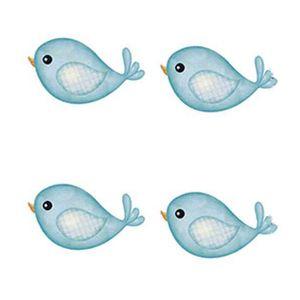Aplique-Decoupage-Litoarte-APM3-142-em-Papel-e-MDF-3cm-Passarinhos-Azul