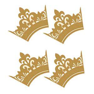Aplique-Decoupage-Litoarte-APM3-147-em-Papel-e-MDF-3cm-Coroa-Dourada