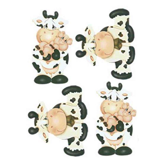 Aplique-Decoupage-Litoarte-APM3-187-em-Papel-e-MDF-3cm-Vaca-e-Porco