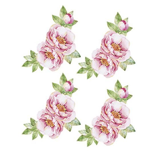 Aplique-Decoupage-Litoarte-APM3-222-em-Papel-e-MDF-3cm-Arranjo-de-Flores-Rosas
