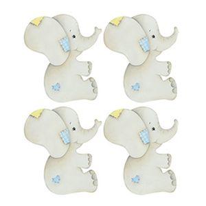 Aplique-Decoupage-Litoarte-APM3-223-em-Papel-e-MDF-3cm-Elefantinhos-Bebes