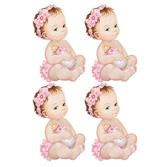 Aplique-Decoupage-Litoarte-APM3-227-em-Papel-e-MDF-3cm-Bebes-Meninas