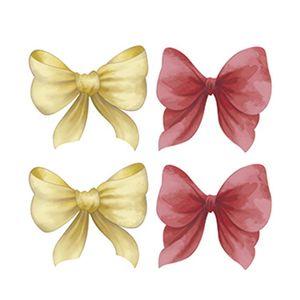 Aplique-Decoupage-Litoarte-APM3-245-em-Papel-e-MDF-3cm-Lacos-Vermelhos-e-Amarelos