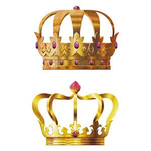 Aplique-Decoupage-Litoarte-APM4-151-em-Papel-e-MDF-4cm-Coroas-Douradas