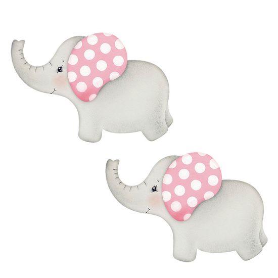 Aplique-Decoupage-Litoarte-APM4-301-em-Papel-e-MDF-4cm-Elefantinhas-Bebes
