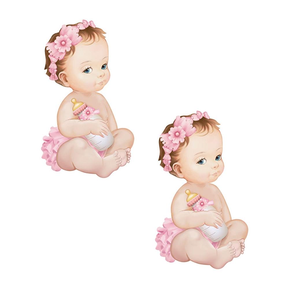 779de2fec Aplique Decoupage Litoarte APM4-303 em Papel e MDF 4cm Bebê Menina ...